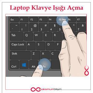 Laptop Klavye Işığı Açma